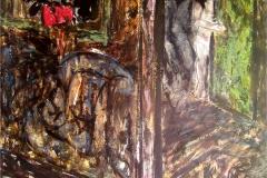 Dream of Paranagua-Collage & Mixed Media on Masonite board-67h x 48w in