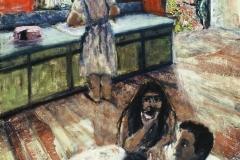 La Familia-Collage & Oil on canvas-24h x 18w in