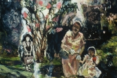 Mother's Day-Collage & Oil on canvas-24h x 20w in