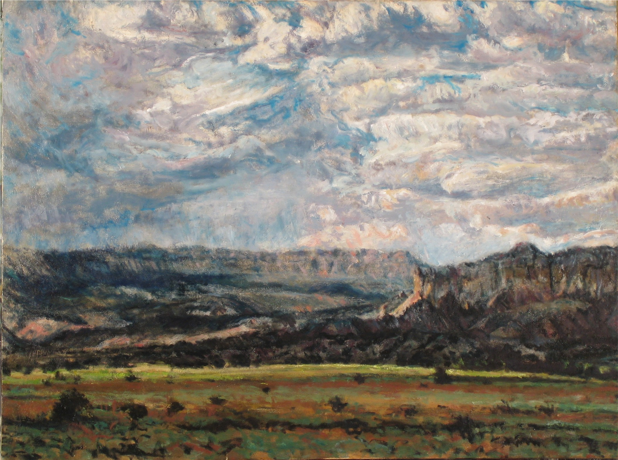 Abiquiu NM-Oil on canvas-30h x 40w in