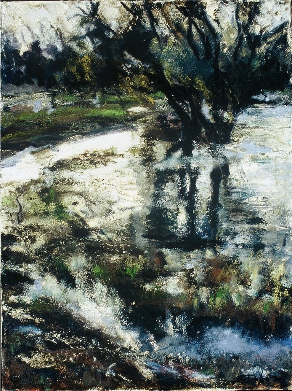Crenshaw Park II-Oil on canvas-16h x 12w in