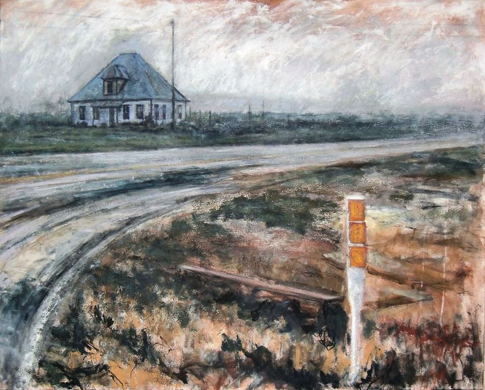 Cross Roads to Lubbuck-Acrylic on canvas-48h x 60w in