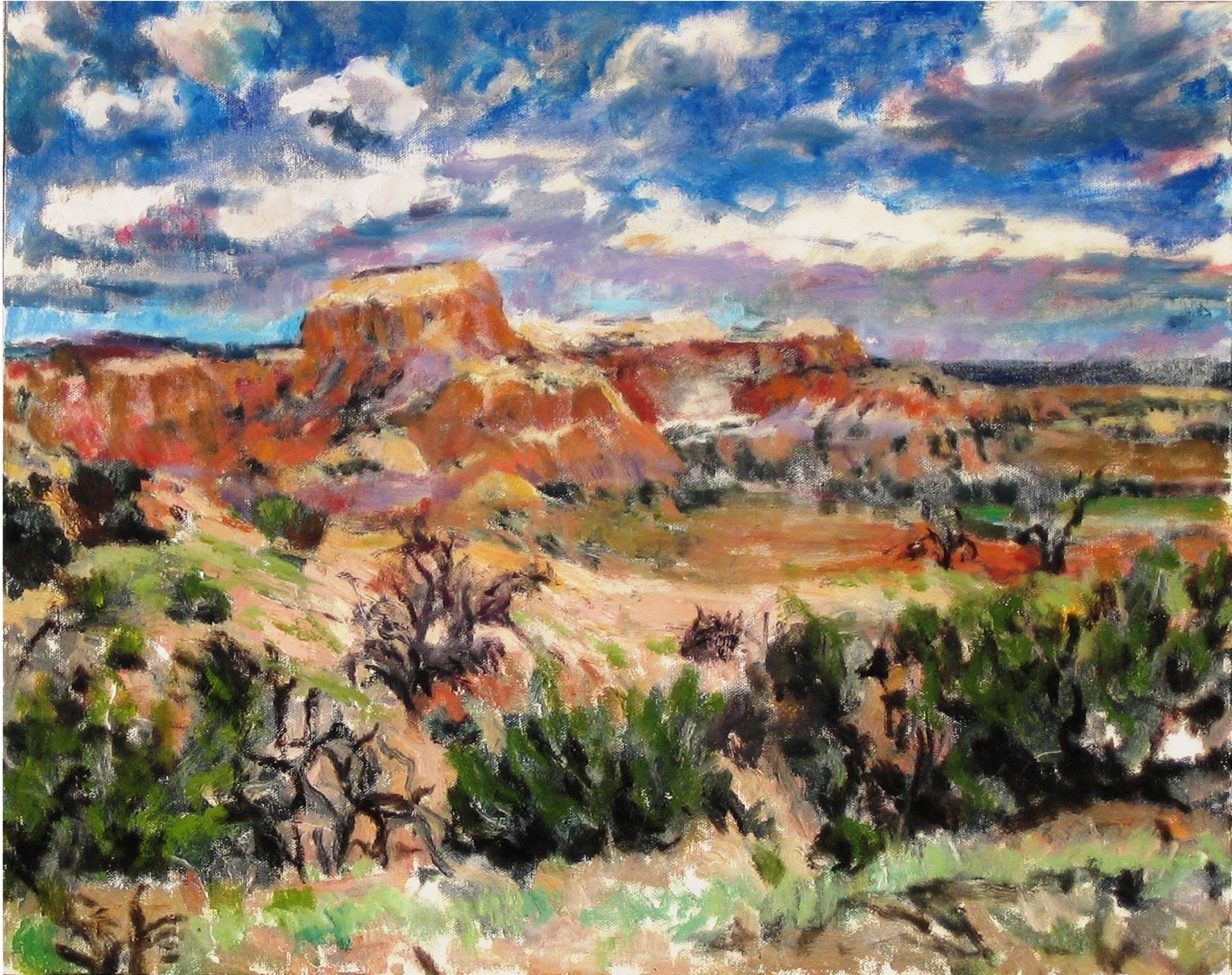 Ghost Ranch NM (I)-Acrylic on canvas-16h x 20w in