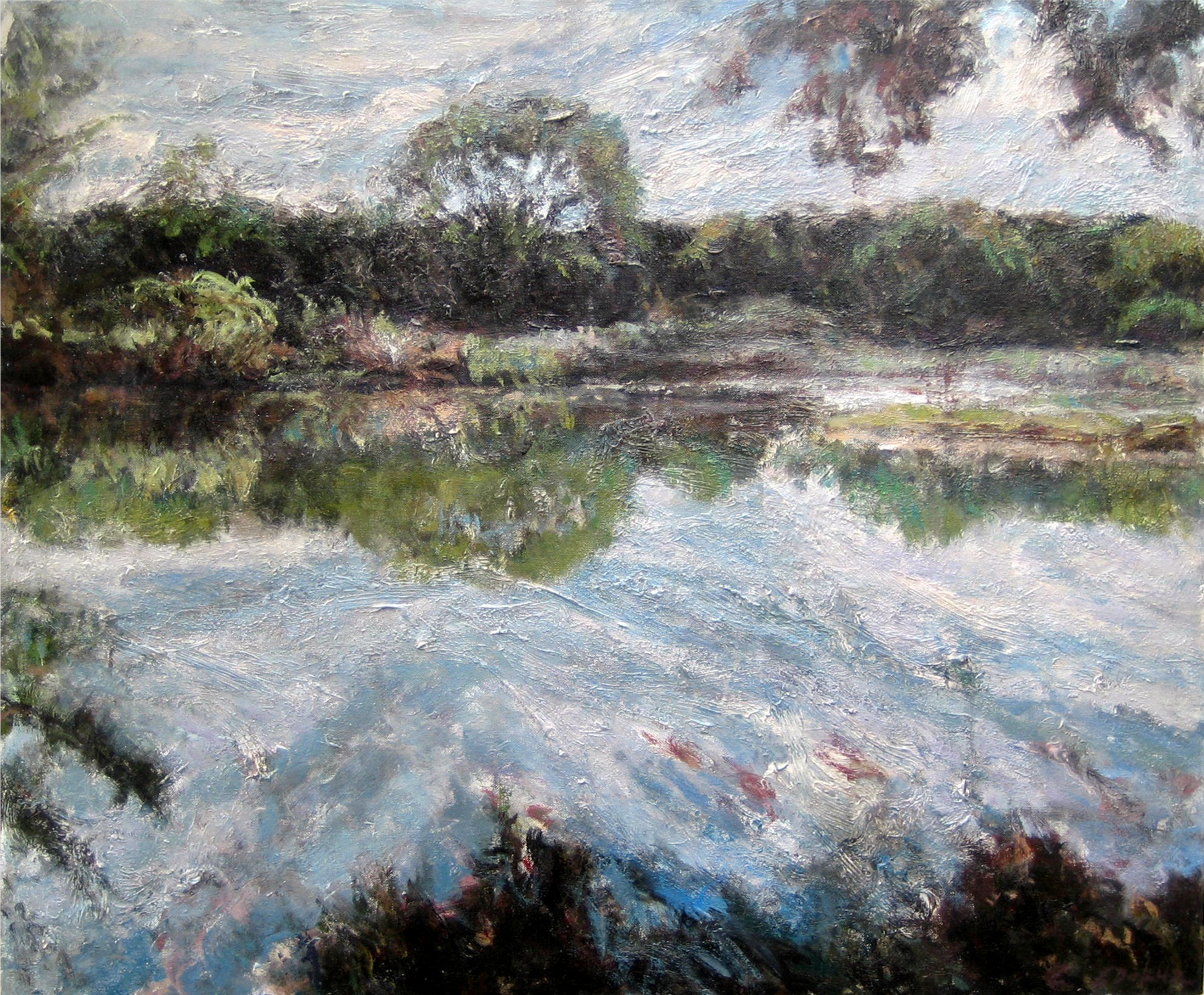Johnson Creek-Acrylic on canvas-30h x 36w in
