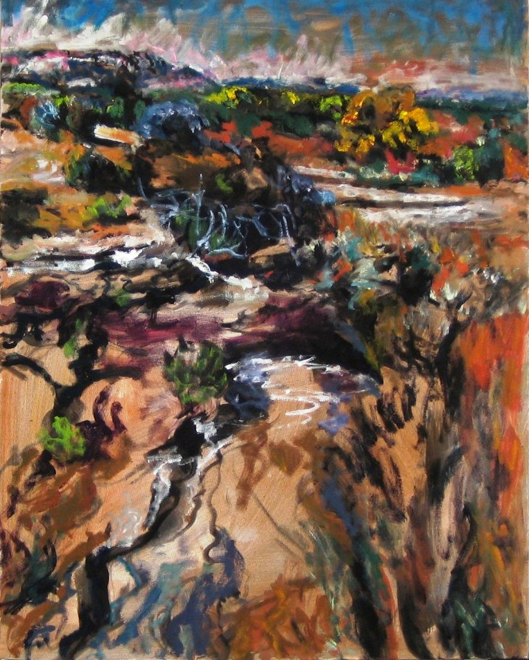 Pool In The Wilderness NM (I)-Oil on canvas- 30h x 24w in