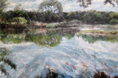 Johnson Creek-Acrylic on canvas-30h x 36w in