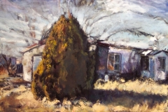 Marfa TX Tree-Oil on canvas-30w x 24h in