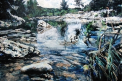Mountain Home Creek-Acrylic on canvas-36h x 48w in