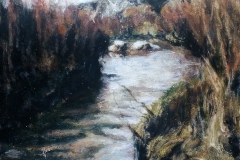Prairie Dog Fork Red River-Acrylic on canvas-16h x 12 w in