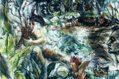 Healing Garden-Acrylic on canvas-24h x 30w in