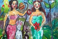 Paradise Graden-Acrylic on canvas-22w x 28h in