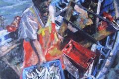 Pescador Peruano-Acrylic on canvas-30h x 24w in