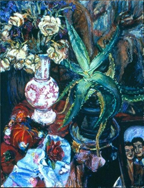 Aloe Vera-Oil on canvas-28h x 22w in