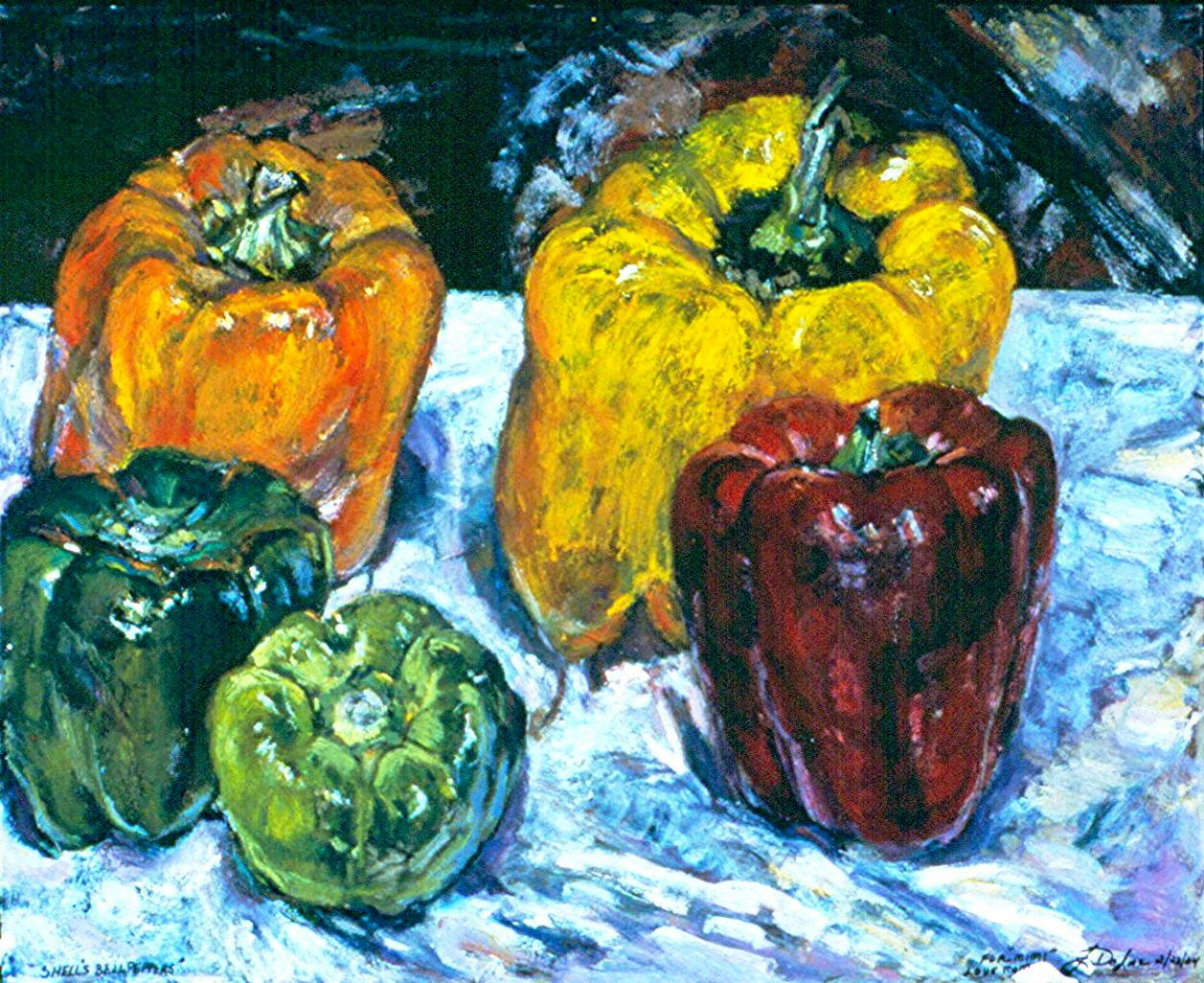 Bell Peppers-Oil on canvas-30h x 40w in