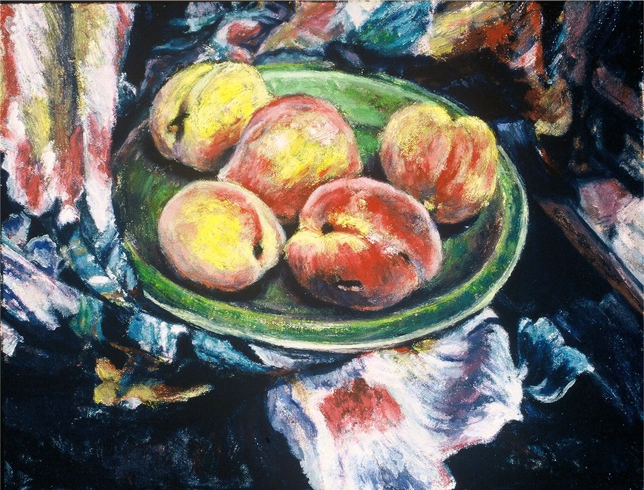 Peaches- Oil on canvas-16h x 20w in