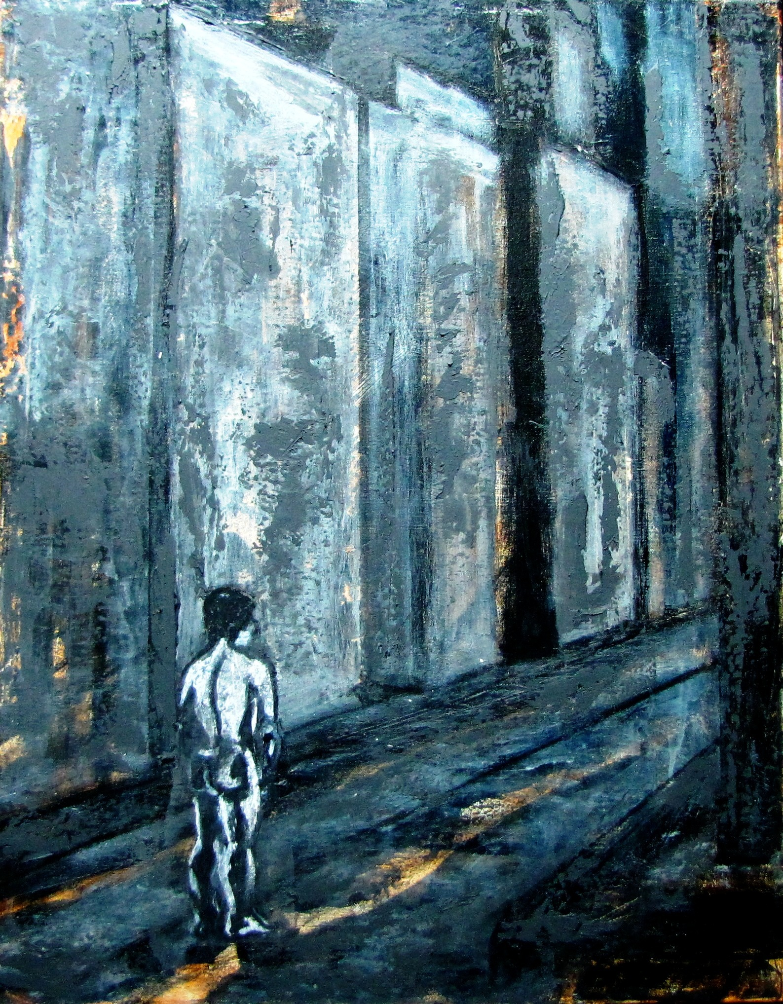 Concrete Gallery-Acrylic on canvas-28h x 22w in
