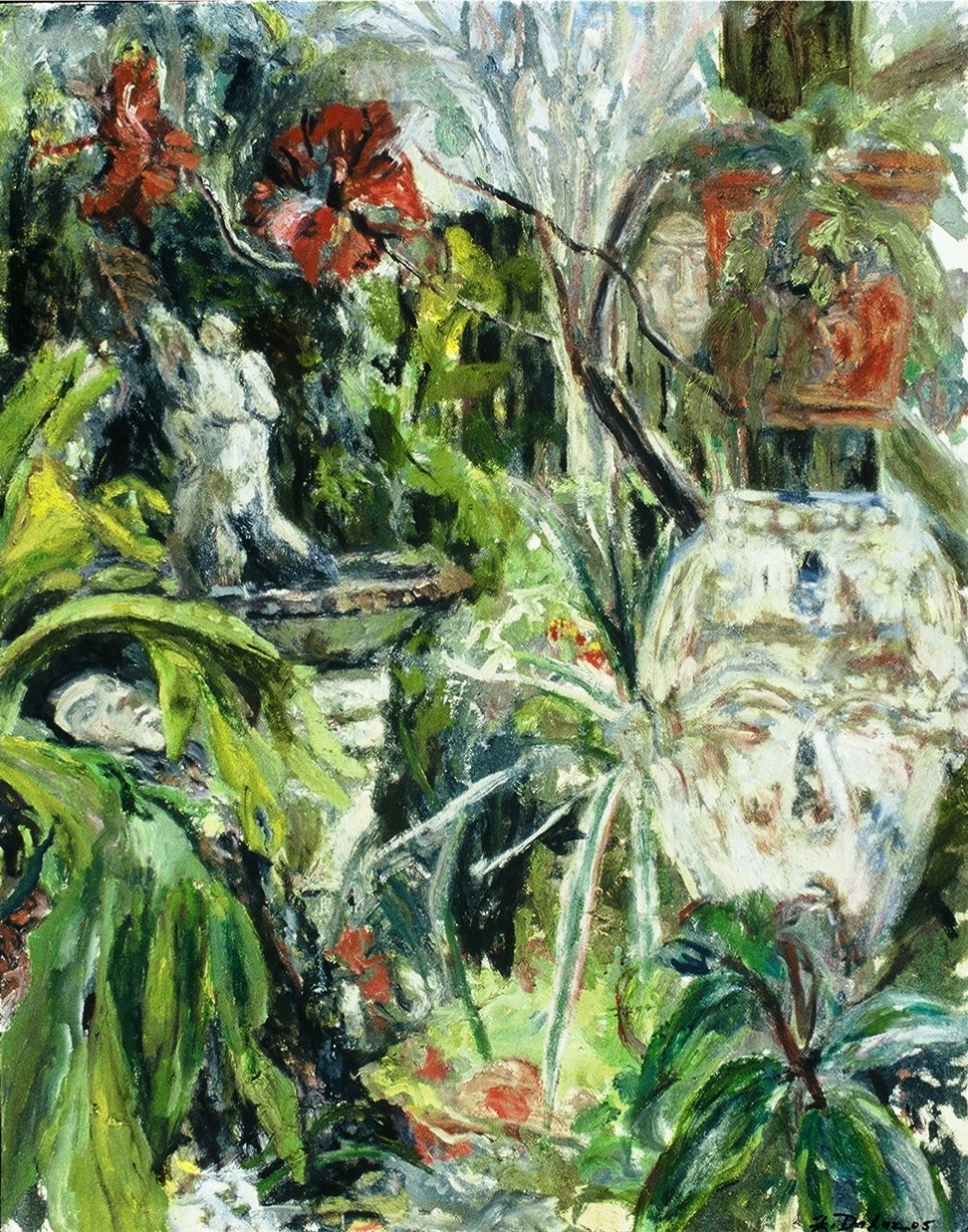 Zoanna's Garden-Oil on canvas-28h x 22w in