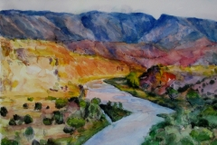 Chama River NM-Watercolor on paper-12h x 16w in