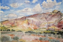 Ghost Ranch NM (III)-Watercolor on paper-16h x 20w in