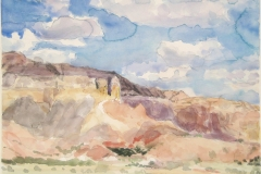 Ghost Ranch NM (IV)-Watercolor on paper-16h x 20w in