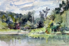 Lake Erwin-Watercolor on paper-16h x 20w in